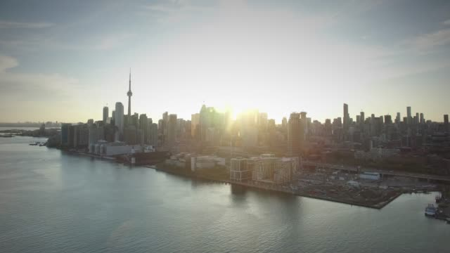 Toronto Canada Aerial Downtown Skyline Aerial Drone of Downtown Toronto Skyline in 4K ontario canada stock videos & royalty-free footage