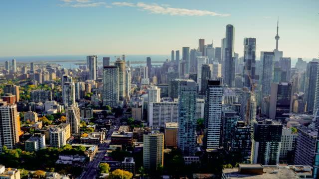 Toronto Canada Timelapse Skyline Traffic - video