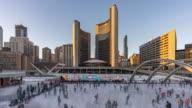 istock Toronto City Hall from day to night 1189215915