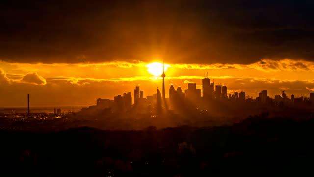 Toronto City Sunset Time Lapse video