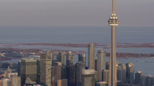 Toronto, Ontario, Canada Aarial View from Helicopter video