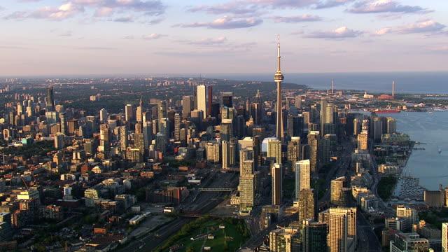 Video Toronto Ontario City Skyline