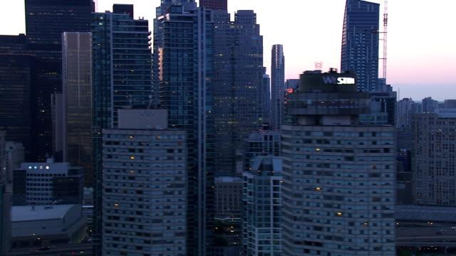 토론토 온타리오 도시 스카이라인 - 지역 유형 스톡 비디오 및 b-롤 화면