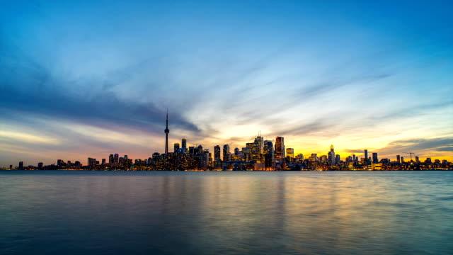 Toronto Skyline Sunset Time Lapse Day to Night video