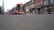 istock Toronto TTC Streetcar in empty street 1224094599