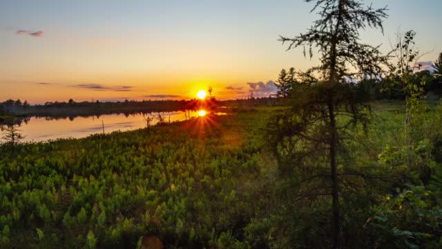 Torrance Barrens Dark-Sky Preserve at sunset, Gravenhurst, Canada