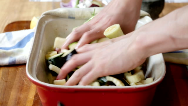 tossing vegetable together for roasting video