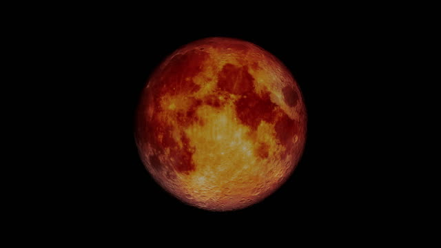 total lunar eclipse blood moon - the moon looks red 4k - księżyc filmów i materiałów b-roll