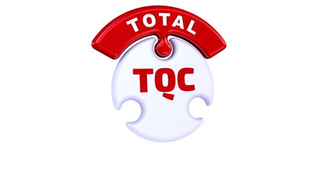 tqc. totale qualitätskontrolle. das häkchen in form eines puzzles - reliability stock-videos und b-roll-filmmaterial