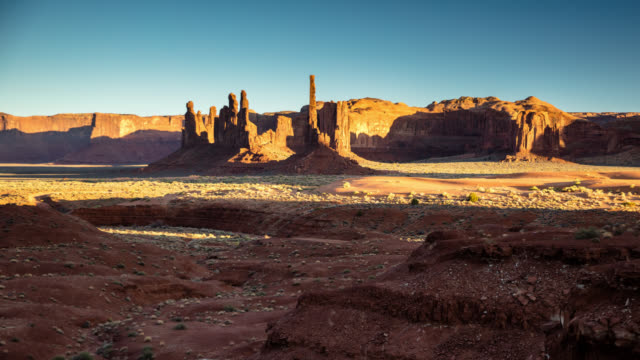 Totem Pole and Yel-Bichel in Oljato-Monument Valley - Time Lapse