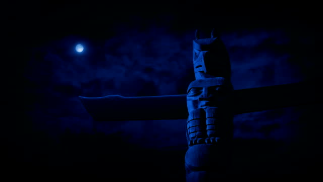 Totem Pole In The Moonlight
