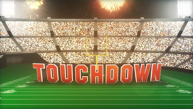 Touchdown! Football Animation With Alpha video