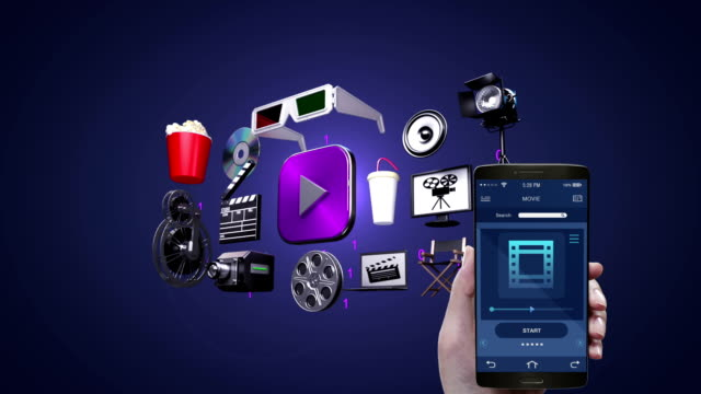 Touching Movie, video, vod entertainment application, management using mobile, smart phone. - Vidéo