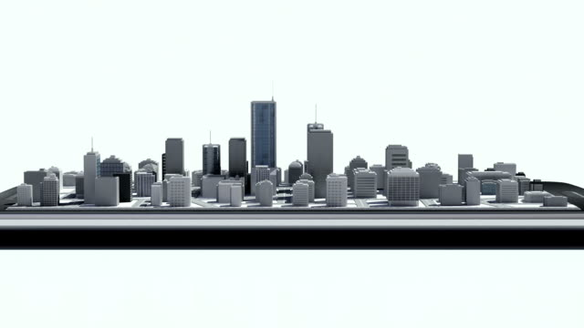 Touching real estate application, building on a smart phone. 2 video