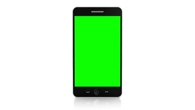 터치스크린 손동작 통해 스마트폰 - white background 스톡 비디오 및 b-롤 화면