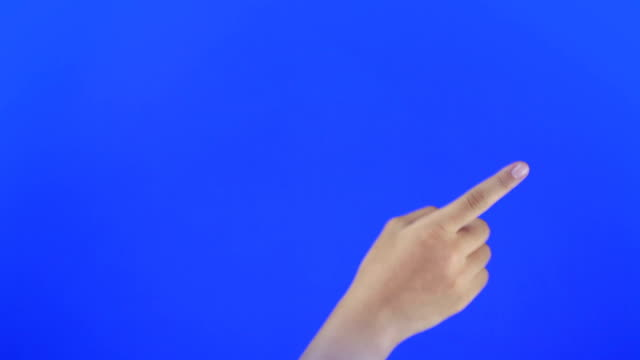 Touchscreen gestures. blue Screen video