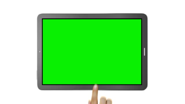 Touchscreen gestures. Male Hand. video