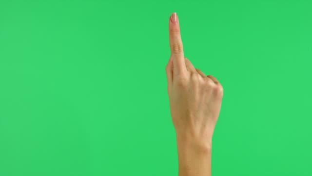 Touchscreen hand tap gestures on green screen video