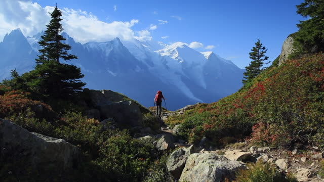 tour du mont blanc - monte bianco video stock e b–roll