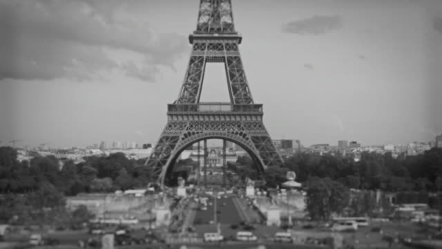 Tour Eiffel Tower from Trocadero, Paris, France video