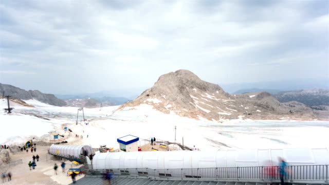 Tourism on the glacier; TIME LAPSE video