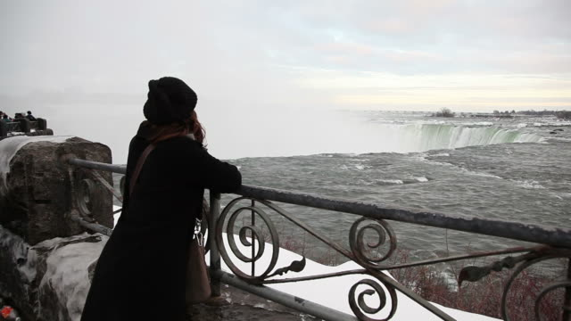 Tourist at Niagara Falls video