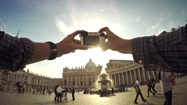 Tourist POV at Saint Peter Square in Vatican, Rome video