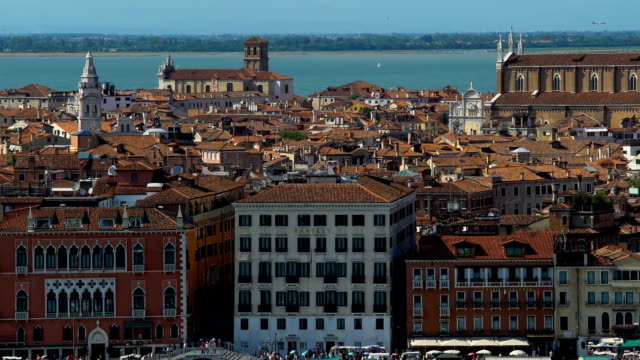 Tourist attractions and old architecture in Venice, panoramic view, tourism video