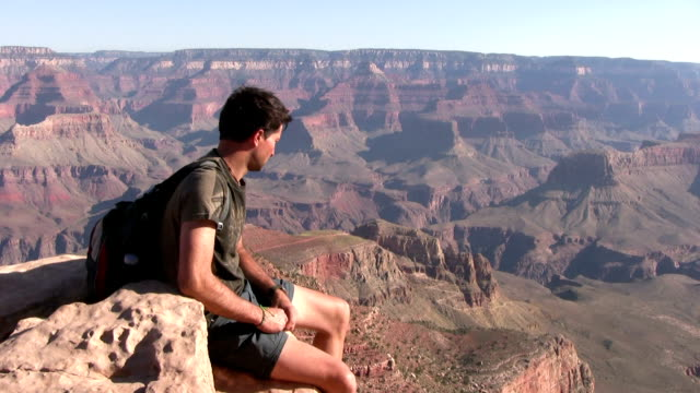 HD: Tourist by the Grand Canyon video