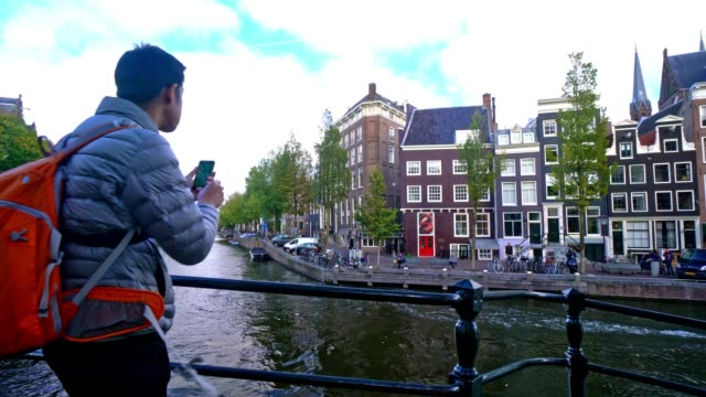 tourist famous place at amsterdam netherlands - dutch architecture stock videos & royalty-free footage