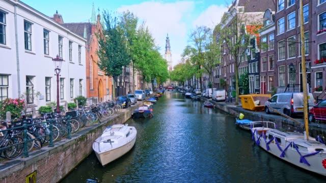 アムステルダムオランダの観光名所 - はしけ点の映像素材/bロール