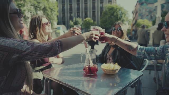 Tourist girls in Madrid Tourist girls in Madrid aperitif stock videos & royalty-free footage