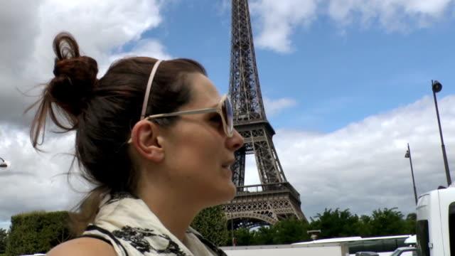 Tourist Walks Around The Eiffel Tower video