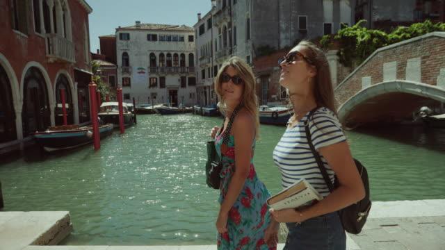 Tourist women in Venezia, Italy