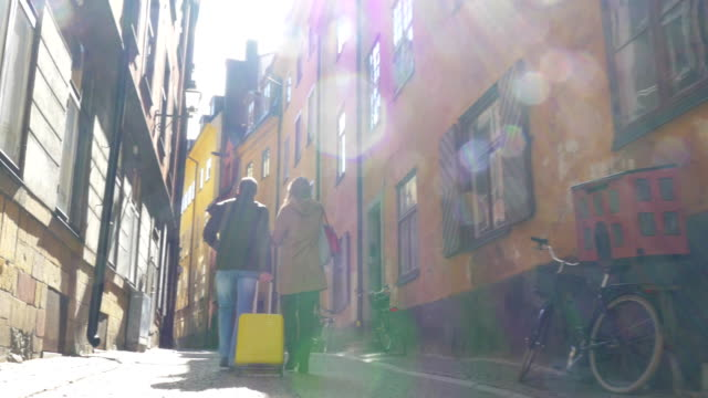 Touristic walk in Old Town of Stockholm video