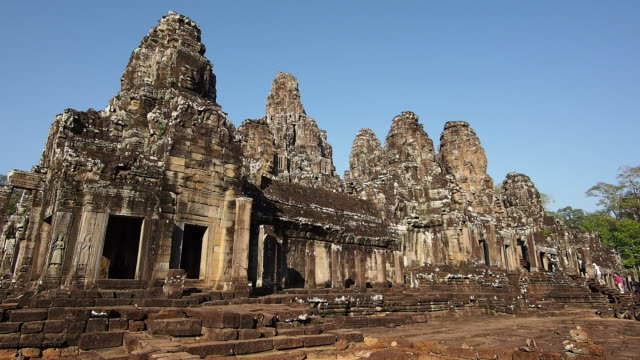 Tourists Entering the Temple of Bayon at Angkor, Siem Reap, Cambodia