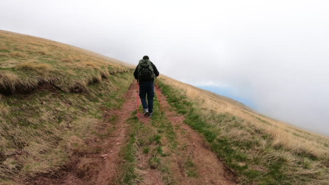 Tourists explore the terrain