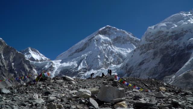 Tourists near Mount Everest video