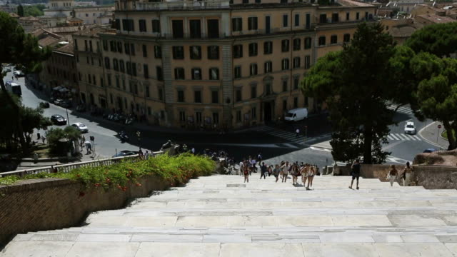 Tourists on the Staircase of Santa Maria in Aracoeli video