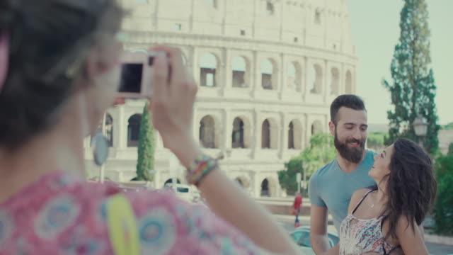 Touristen reisen snapshot-Foto in Rom – Video