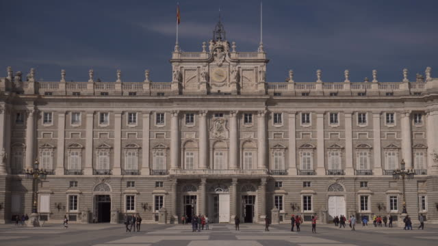 Tourists visiting the famous Royal Palace in Madrid, Spain video