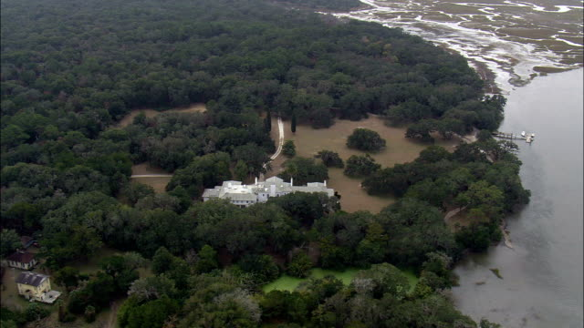 Towards the South End Of Cumberland Island  - Aerial View - Georgia,  Camden County,  United States video