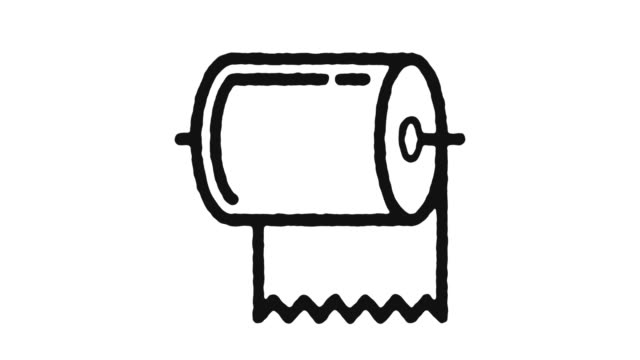 Towel Icon Animation Footage & Alpha Channel