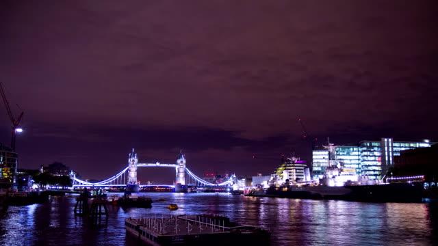 HD TIME LAPSE: Tower Bridge At Night video