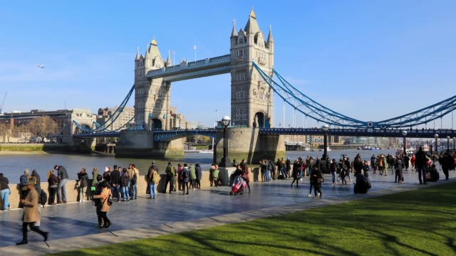 tower bridge in london, england, uk - london architecture stock videos & royalty-free footage