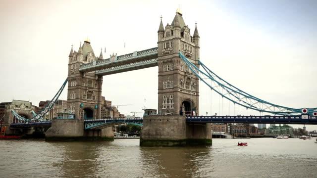 Tower Bridge in London, England video