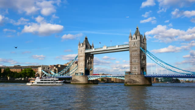 Tower Bridge, London, England in summer video