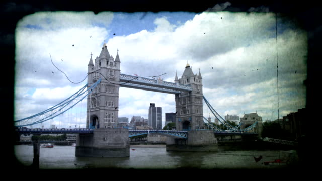 tower bridge, london super 8. hd - victorian architecture stock videos & royalty-free footage
