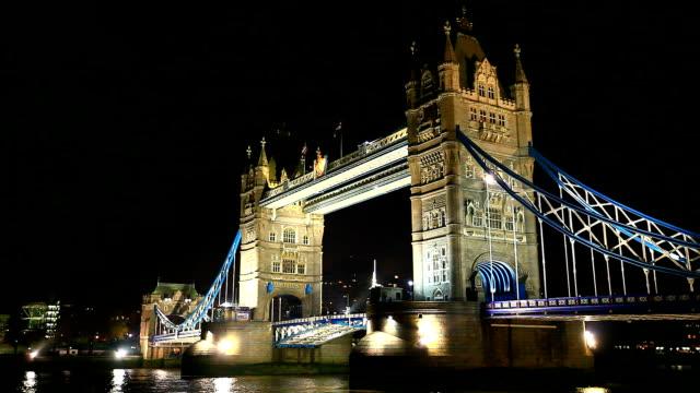 Tower Bridge nightshot video