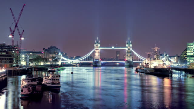 Tower Bridge, Time lapse video
